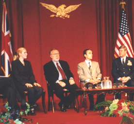 Panel on The International Intervention in Kosovo, International Academy of Achievement, London, UK, October 2000.